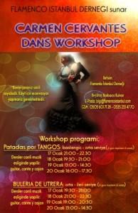Carmen Cervantes ile Canlı Müzik Eşliğinde Flamenko Dans Workshop
